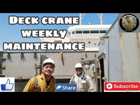 DECK CRANE WEEKLY MAINTENANCE