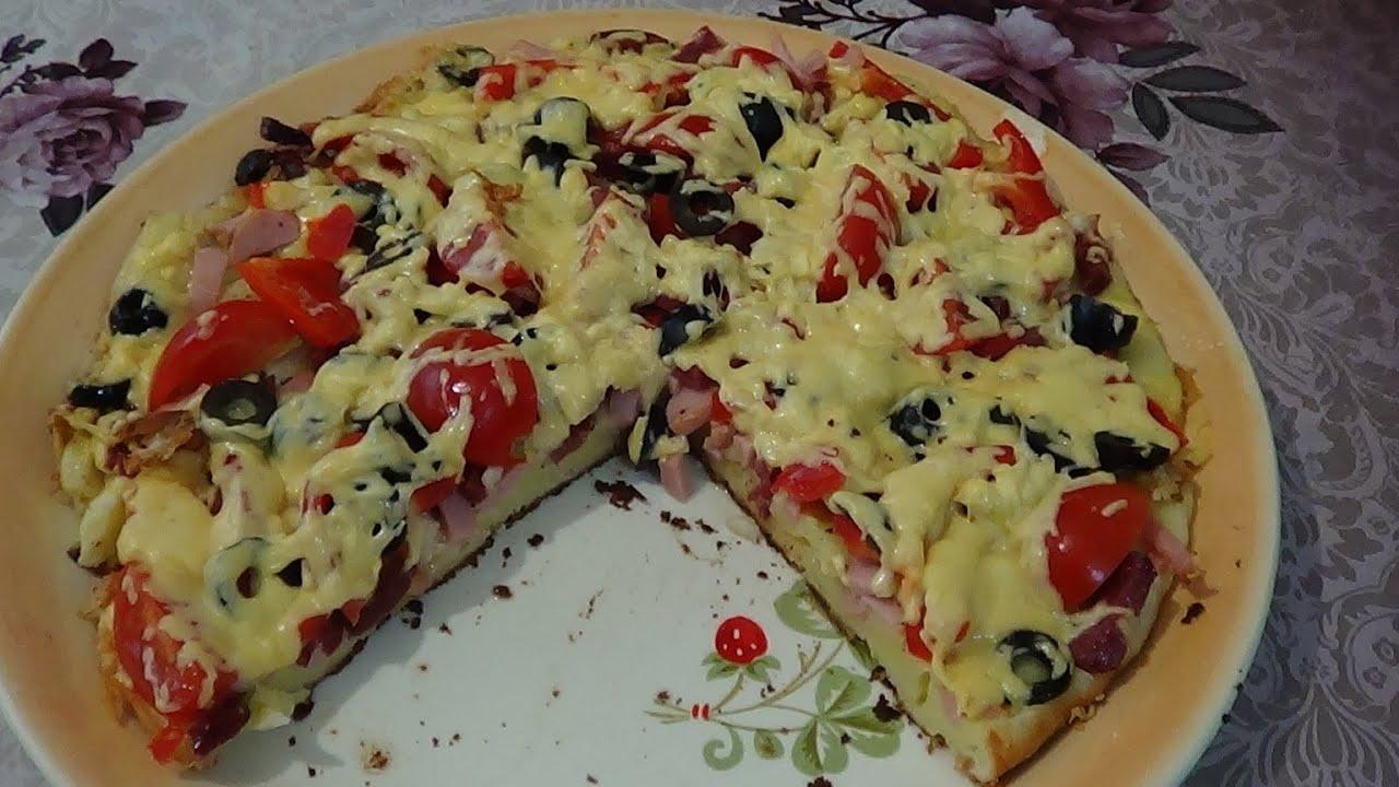 пицца быстро и вкусно рецепт на сковороде