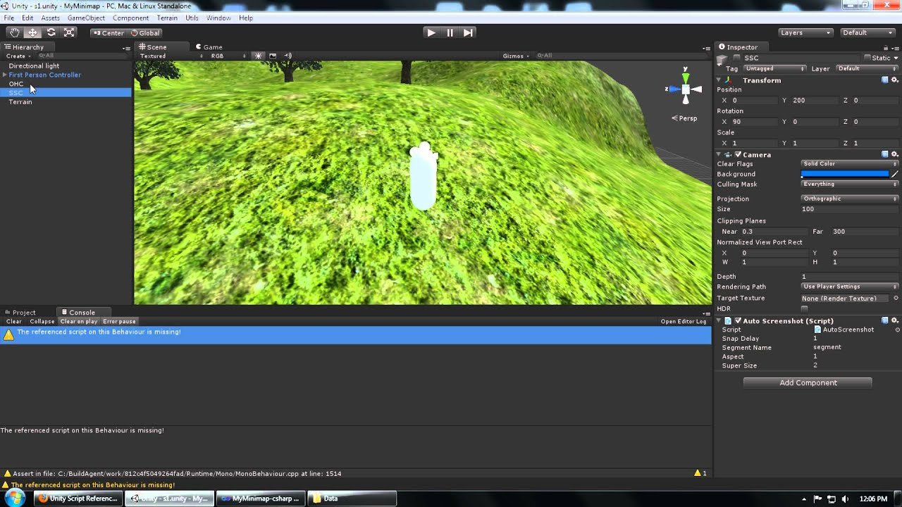 Unity3d Camera Orthographic Size