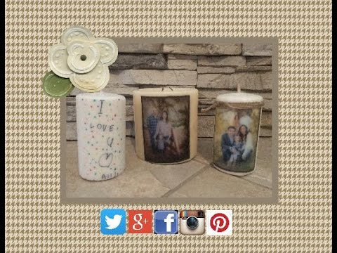 How To Personalize A Candle | EASY DIY Picture Candle