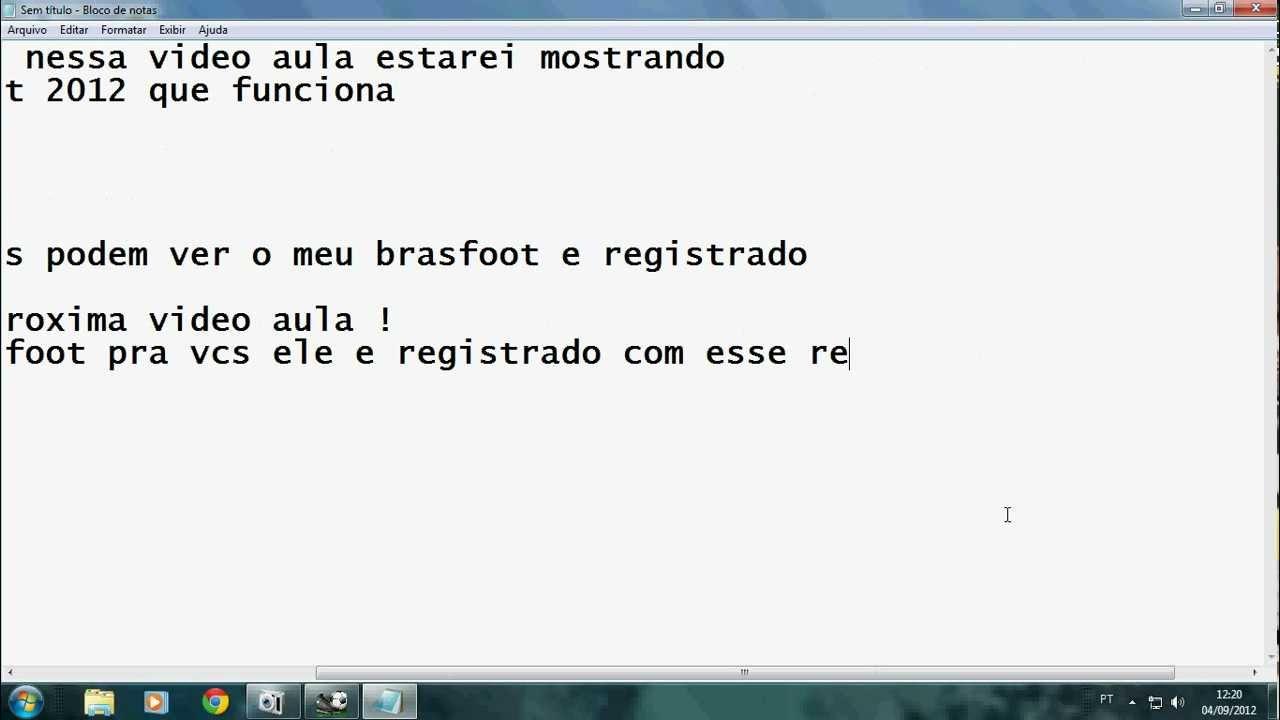 o registro do brasfoot 2012 gratis