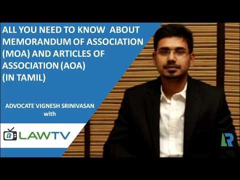Company Incorporation - MOA & AOA (in Tamil)