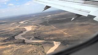 Crosswind landing at WINDHOEK NAMIBIE