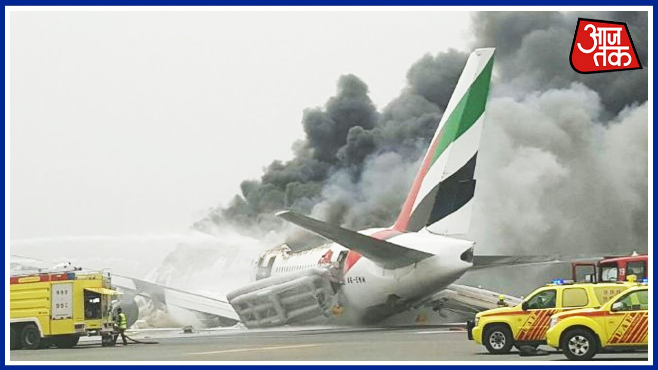 Emirates Flight From India Crash Lands Catches Fire At Dubai Airport You