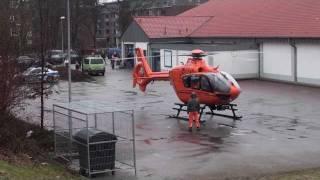 Eurocopter EC-135 Start Rettungshubschrauber Hamburg Rothenburgsort