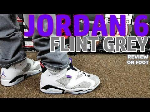 """AIR JORDAN 6 """"FLINT GREY"""" REVIEW & ON FEET"""