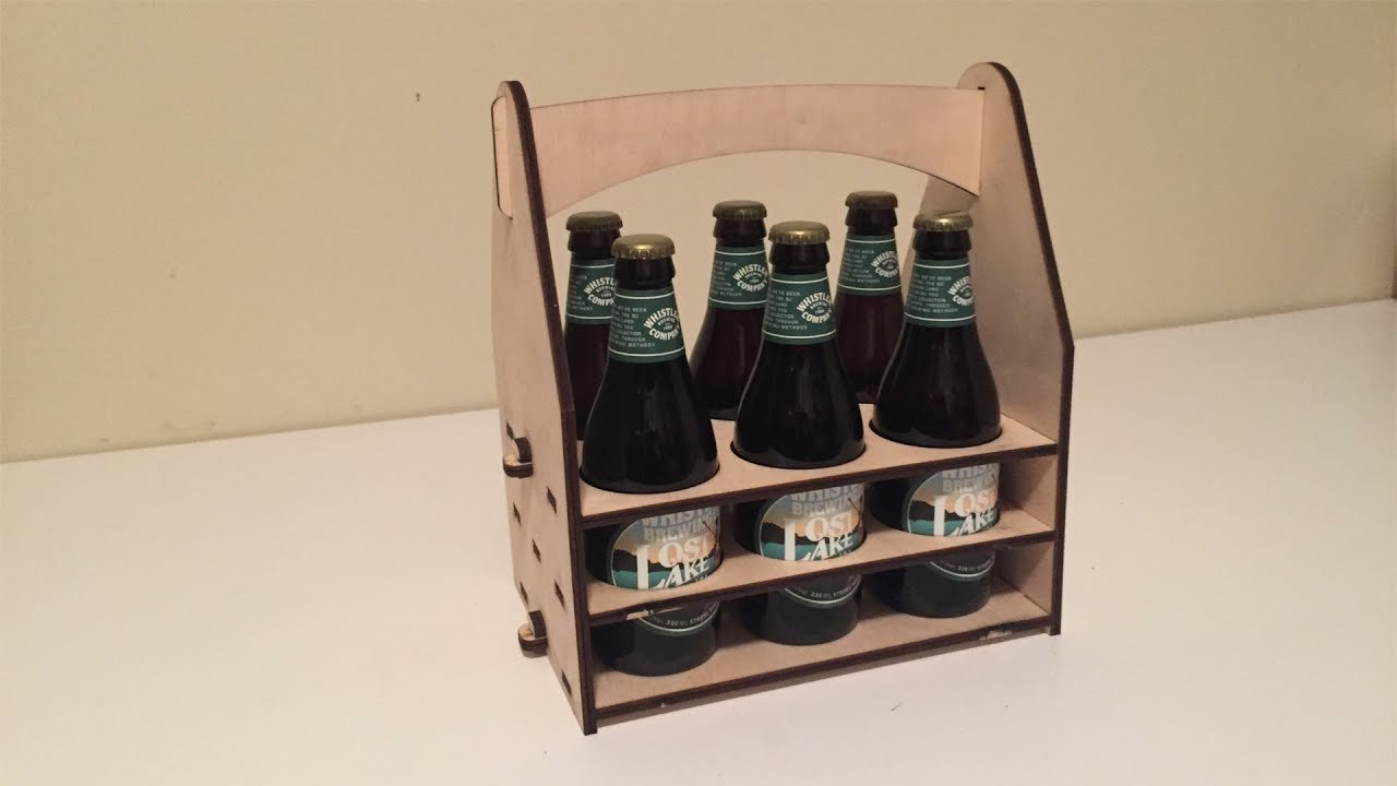 Laser Cut Beer Crate - No Glue - 6 Bottles
