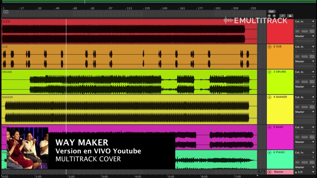 Aqui estás WAY MAKER Multitrack Chords - Chordify