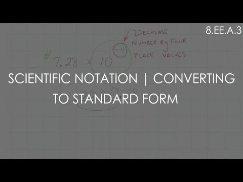 Scientific Notation Converting To Standard Form 8a3 8th