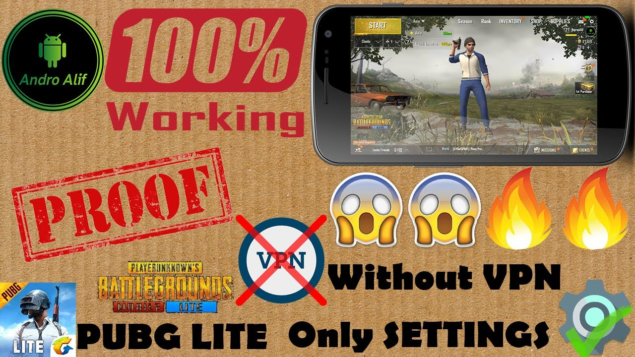 PUBG LITE WITHOUT VPN ONLY SETTINGS!!!😱😱🔥🔥