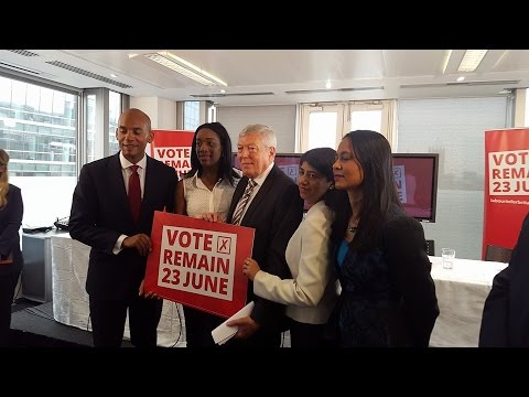 BAME Press Conference at Labour Party HQ on the EU Referendum.
