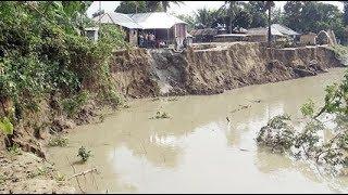 River Erosion   পদ্মার ভাঙন রোধে পানি উন্নয়ন বোর্ডের তৎপরতা   Somoy TV