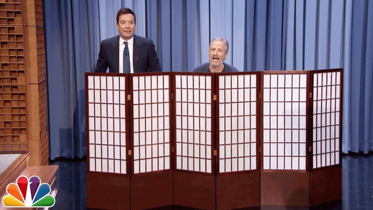 Jon Stewart, Jimmy Fallon swap pants for Super Bowl charity contest