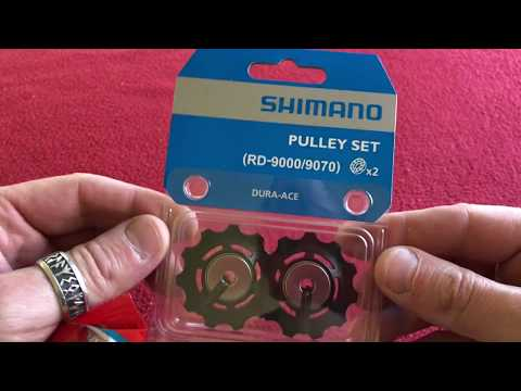 a9f23fbb7c2 Shimano Dura Ace RD-9000/9070 Pulley Set unboxing/comparison - YouTube