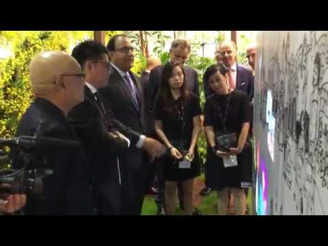 Interactive Wall for Singapore Tourism Board at ITB Asia 2016 (1/4)