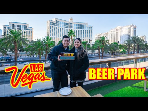 AMAZING Views @ The BEER PARK In Paris LAS VEGAS