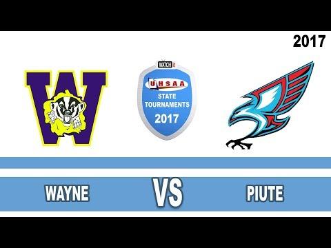 1A Girls Basketball: Wayne vs Piute High School UHSAA 2017 State Tournament  Consolation Semifinals