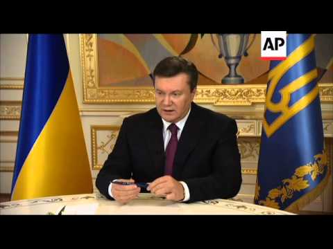 Yanukovych says Ukraine hopes for energy project with Russia, EU