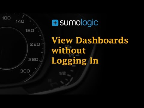 View Sumo Logic Dashboards without Logging In