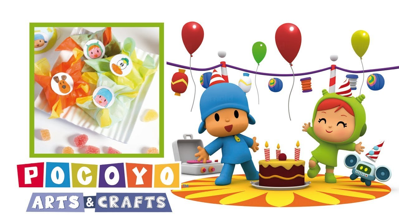 0cdb3d18f Pocoyo Arts & Crafts: bolsita para dulces de Pocoyó   CUMPLEAÑOS ...