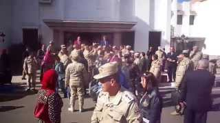 وفد كلية الدفاع الوطنى تلقى الفريق مهاب مميش قبل زيارة القناة الجديدة