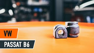 Montavimo Stabilizatoriaus įvorė videoinstrukcija VW PASSAT
