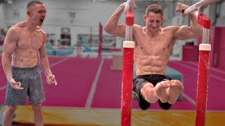 'Gymnastics Muscle Up' World Record {SUPER STRENGTH!}