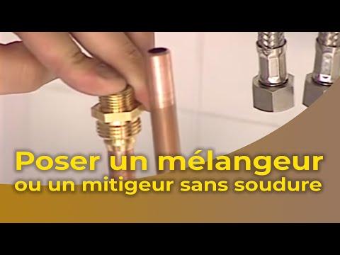 La Pose DUn Mlangeur Ou DUn Mitigeur Sans Soudure  Youtube