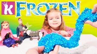 Лизун с шариками пенопласта Куклы FROZEN Анна DIY How To Make Frozen Anna Slime