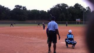 Austin ASA umpire stands 5 feet left of plate