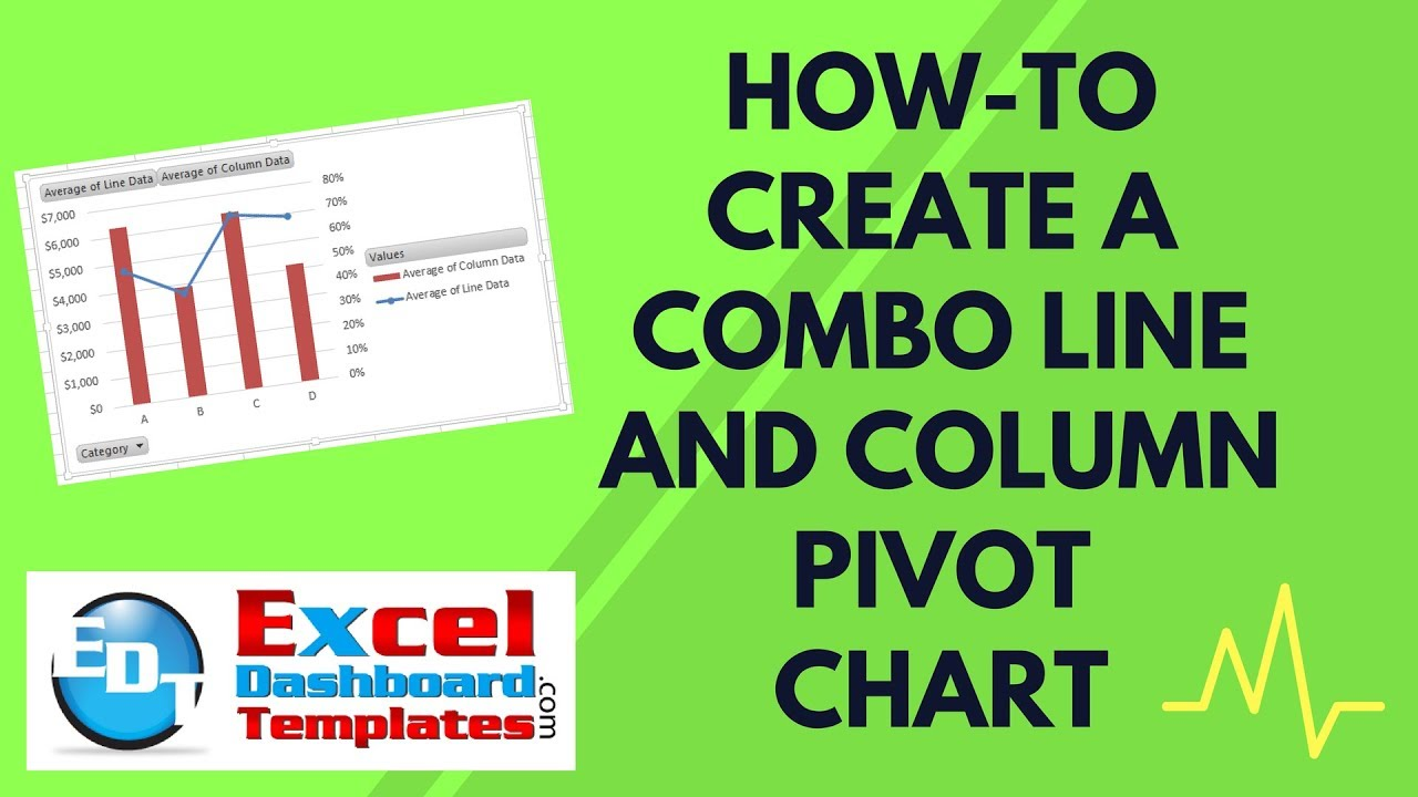 How to create  combo line and column pivot chart excel dashboard templates also youtube rh