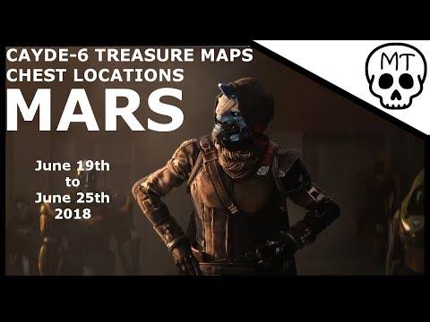 Cayde-6 Treasure Maps / Chest Locations / Mars June 19th 2018 / Destiny 2 Warmind