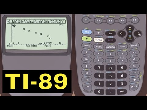 TI-89 Calculator - 23 - Graphing Statistical Scatter Plots