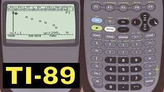 TI-89 Calculator - Graphing Statistical Scatter Plots