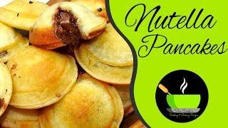 Nutella Stuffed Mini Pancakes | Simple Dessert Recipe | Easy Snacks Recipe |  Pancakes Recipe