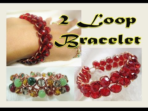 Jewelry Tutorial | EASY 2 LOOP  Wire Wrap Bracelet -  Liz Kreate