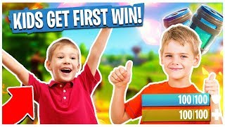 GETTING LITTLE KIDS THEIR FIRST FORTNITE WIN! - Fortnite 5KD Player Gameplay | TBNRKENWORTH