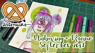 ARTSNACKS UNBOXING + REVIEW ~ September 2017 ~ Kaatydid Art