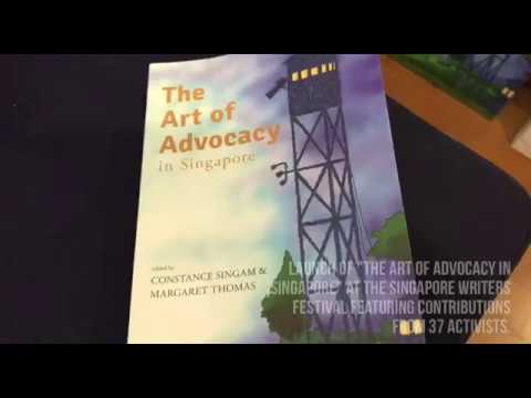 Launch of The Art of Advocacy in Singapore at SWF