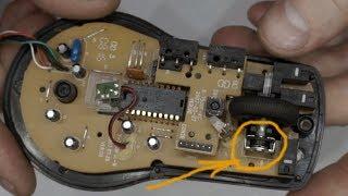 замена колесика на мышке (энкодер + ремонт самого колесика)