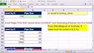 Excel Magic Trick 920: Rotating List & Upside down VLOOKUP: Alternative Formulas Video