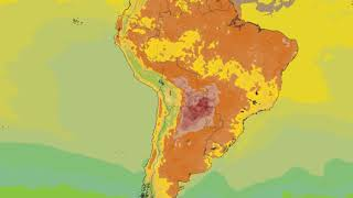 South America Surface Temperature Weather Forecast HD: 17 Nov 2019 [Updated at 1200 hours UTC]