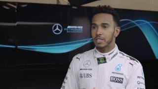 Mercedes-AMG Petronas Motorsport Launches W08 EQ POWER+ - Interview with Lewis Hamilton | AutoMotoTV
