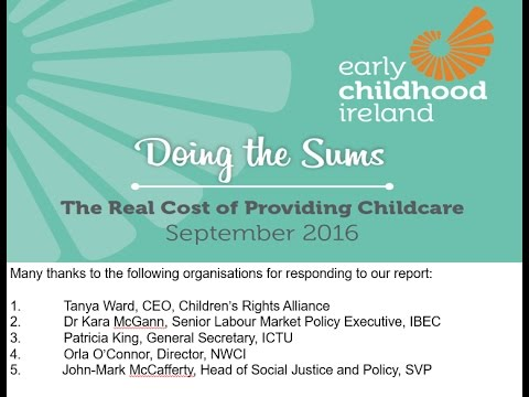 'Doing The Sums:The Real Cost Of Providing Childcare'