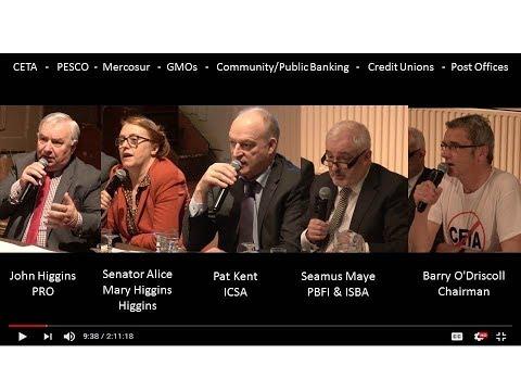 Ennis Debate II - Captured Irish State? CETA Mercosur PESCO Community/Public Banking