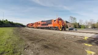U23B, B23-7 and B39-8E Moving - Huntsville and Madison County Railroad