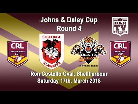 2018 CRL - Andrew Johns and Laurie Daley Cups - Round 4 - Illawarra  v GSR