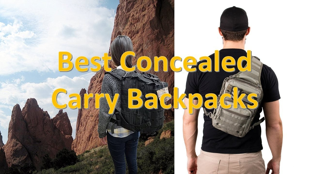 f400bc6771 Top 8 Best Concealed Carry Backpacks in 2018 - YouTube