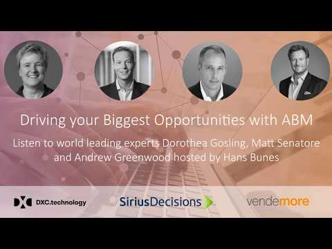 Webinar: How to drive your Biggest Opportunities with ABM
