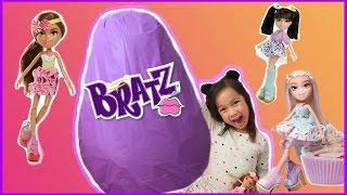 GIANT BRATZ SURPRISE EGGS  Bratz Movie New DOLLS play doh surprise eggs play-doh Toy videos